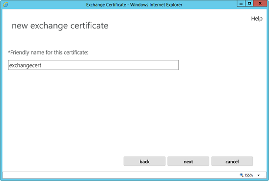 Microsoft Exchange 2013 - Generate an SSL certificate request (CSR)