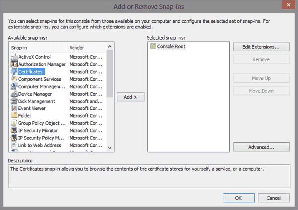 Microsoft IIS - Install Intermediate SSL Certificate